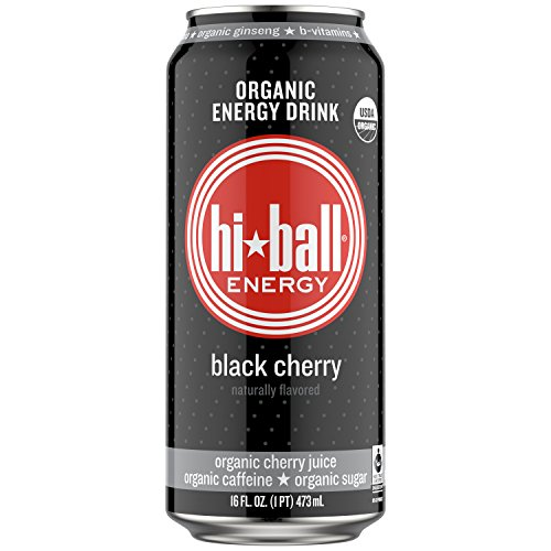 - Hiball Energy Organic Juice Drink, Black Cherry, 16 Ounce, 12 Count