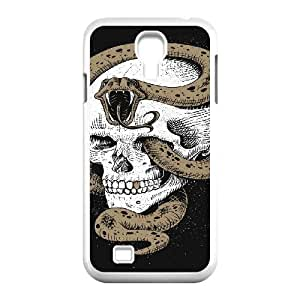snake creepy skull scary skeleton Samsung Galaxy S4 Case White