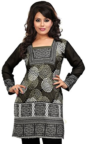 Indian Tunics Kurti Top Blouse Womens Printed India ...
