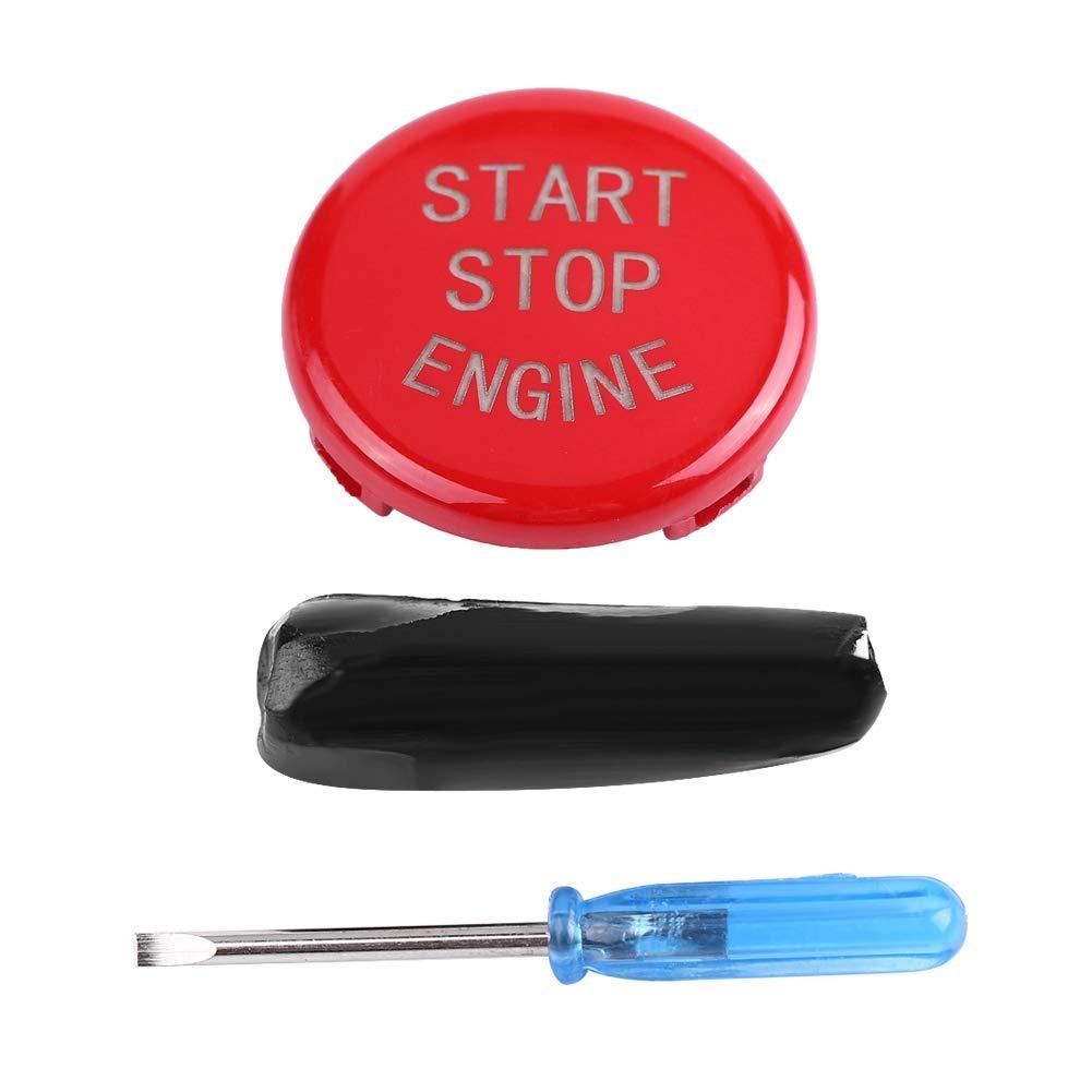 negro Cubierta del bot/ón del interruptor de paro de arranque del motor del autom/óvil para B-M-W E Chasis 3 series 5 series