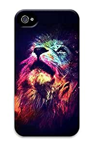 iPhone 4 Case, Customized Protective Lion Head Hard 3D Case Cover for iPhone 4 4s