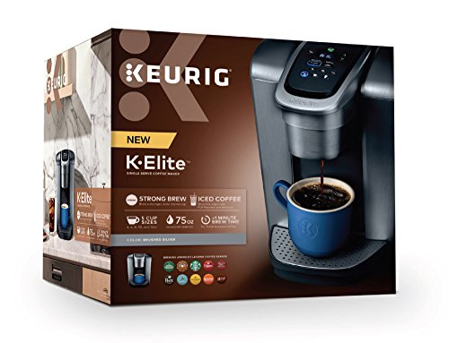 Keurig K-Elite K Single Serve K-Cup Pod Maker, with Strong Temperature Control, Iced Coffee Capability, 12oz Brew Size, Programmable, Brushed Silver by Keurig (Image #12)