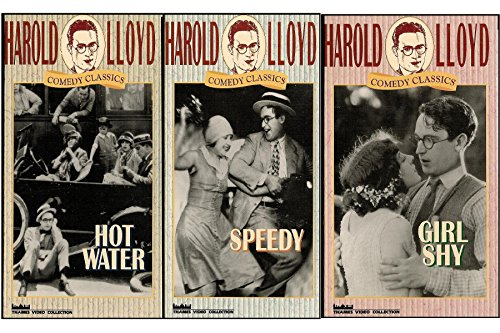 Harold Lloyd Comedy Classics Series: Girl Shy / Speedy / Hot Water [3 VHS VIDEOS] (Water Talkies compare prices)
