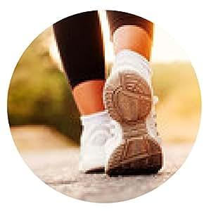 alfombrilla de ratón de cerca la imagen de los zapatos de fitness femenino durante el entrenamiento en la naturaleza - ronda - 20cm