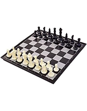 25x25cm Magnetic folding chess board portable set with pieces games sport camping travel