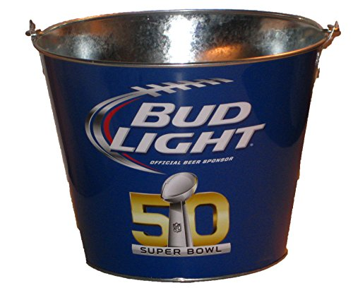 Super Bowl 50 Bud Light Metal Beer Ice Bucket