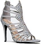 PRINCESS-47 Rhinestone Glitter High Heel Party Sandal