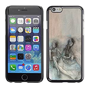 For Apple (4.7 inches!!!) iPhone 6,S-type® Somber Teal Couple Depression - Arte & diseño plástico duro Fundas Cover Cubre Hard Case Cover