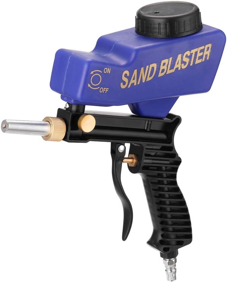 Máquina de chorro de arena de gravitación portátil/70 ~ 150PSI/Juego de chorro de arena neumático/Máquina de chorro de arena pequeña a prueba de herrumbre/ Pistola de chorro de arena profesional