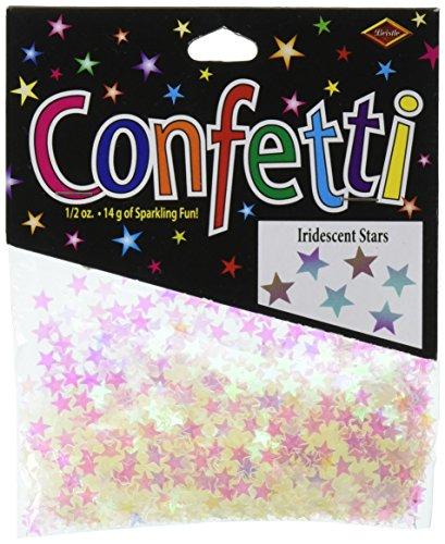 Beistle CN056 Iridescent Stars Confetti, 1/2-Ounce