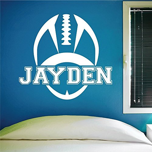 Custom Football Name Wall Decal, 0119, Personalized Football Name Wall Decal,Boys Room Vinyl Lettering, Custom Name - Name Lettering