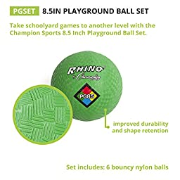 Champion Sports Playground Ball, 8.5-Inch - Set of 6, Multi-Color