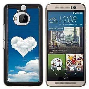 Caucho caso de Shell duro de la cubierta de accesorios de protección BY RAYDREAMMM - HTC One M9Plus M9+ M9 Plus - Corazón de la nube