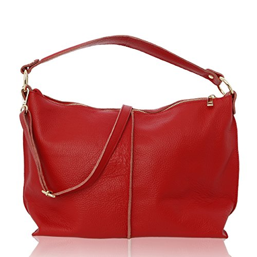 épaule Femme pour 45 Florence Porté 14 cm Made in Véritable 26 Cuir Rouge Sac t6EFq5wt