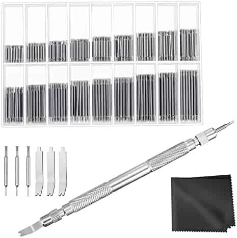 Anezus Watch Link Remover Kit with Spring Bar Tool Watch Band Tool and 360 Pcs Watch Strap Link Pins for Watch Repair and Watch Band Removal