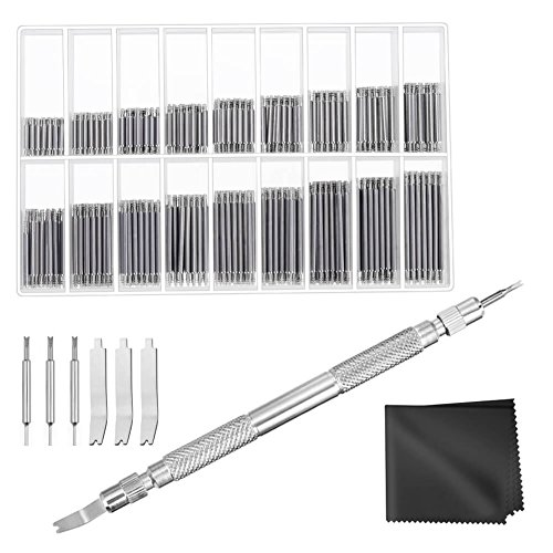 Pins Watch Strap - Anezus Watch Link Remover Kit with Spring Bar Tool Watch Band Tool and 360 Pcs Watch Strap Link Pins for Watch Repair and Watch Band Removal