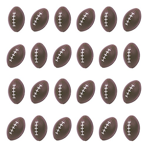 24 Pack | Mini Football Stress Balls for Kids & Adults Party Favors -