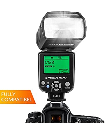983b330c20f6a ESDDI Flash Speedlite para Canon Nikon Panasonic Olympus Pentax y Otras  cámaras DSLR con Pantalla LCD