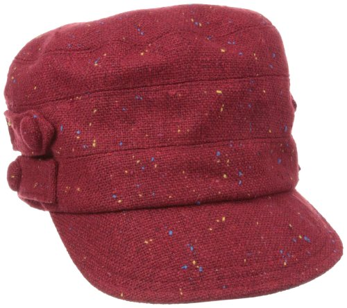 San Diego Hat Women's Up-Cycled Tab Speckled Tweed 4-Button Hat