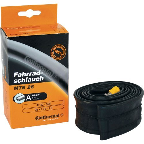 Continental Race 28 Light Bicycle Inner Tube - Black, 18/25-622/630 by Continental by Continental