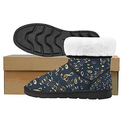 Snow Boots Da Donna Interesse Design Unico Comfort Invernale Stivali Note Musicali Multi 1