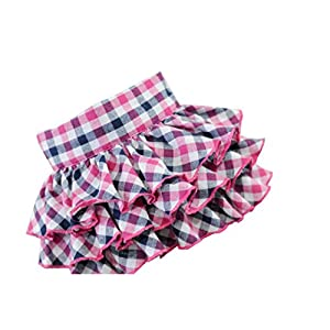 GBSELL Fashion Pet Dogs Cute Plaid Short Skirt Dress (S, Red)