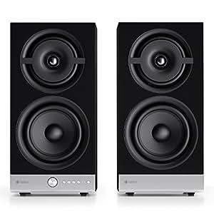 Raumfeld Stereo M Wireless Streaming Bookshelf Speakers (Pair, Black)