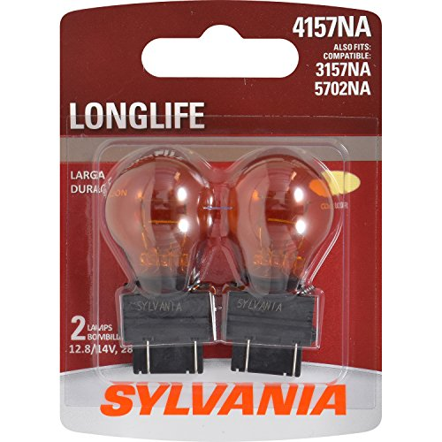 SYLVANIA - 4157NA Long Life Miniature - Amber Bulb, Ideal for Parking, Side Marker, and Turn Signal Applications. (Contains 2 Bulbs) (Chevy Parking Marker Tahoe)