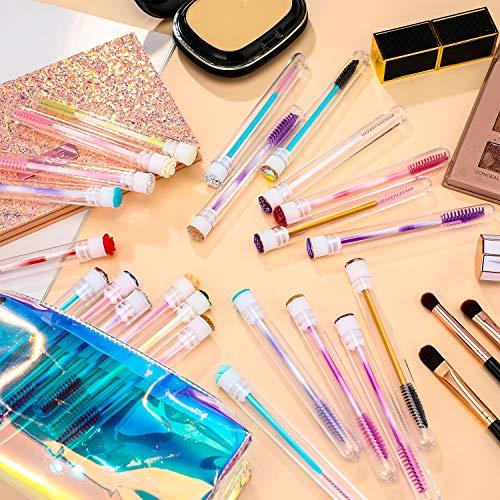 30 Pieces Disposable Mascara Brushes Diamond Tube Eyelash Makeup Brush Mascara Wand with Tube for Lash Eyelash Extension Supplies