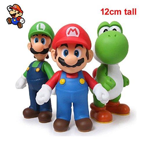 New 3pcs Nintendo Super Mario Bros Luigi Mario Action Figures Toys Gift nyre