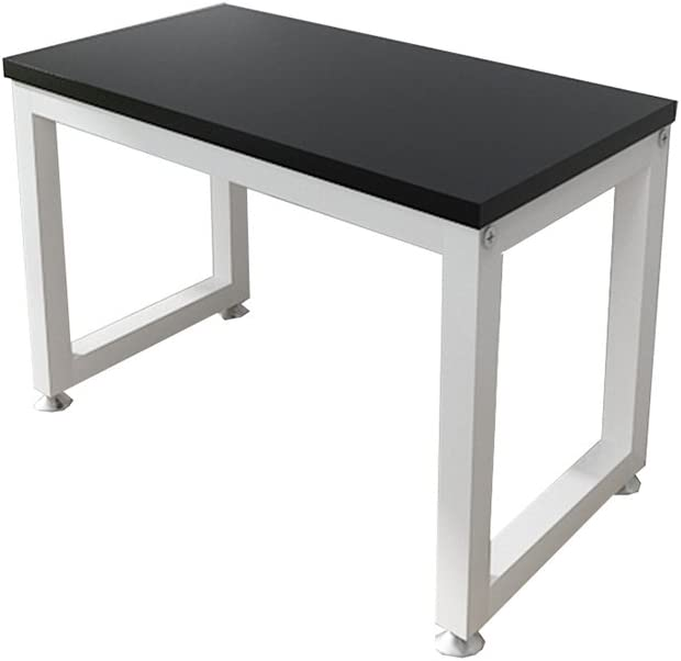 Office Printer Tray Computer Desk Monitor Stand 2-Tier White and Black Board Kitchen Microwave Oven Rack Seasoning Shelf Storage Shelf (Size : 45cm)