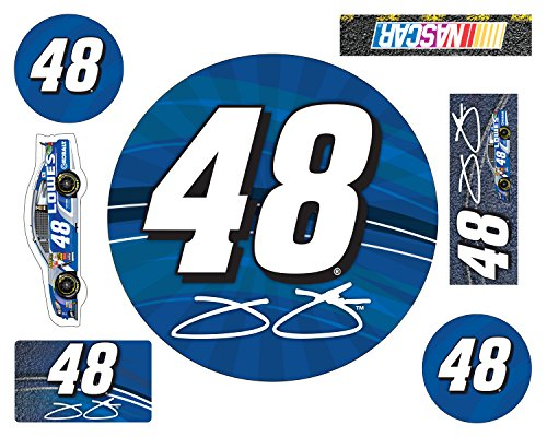 NASCAR #48 JIMMIE JOHNSON CAR MAGNET 7 PC SET-JIMMIE JOHNSON 7 PC MAGNET SET NEWER STYLE - Jimmie Johnson Set