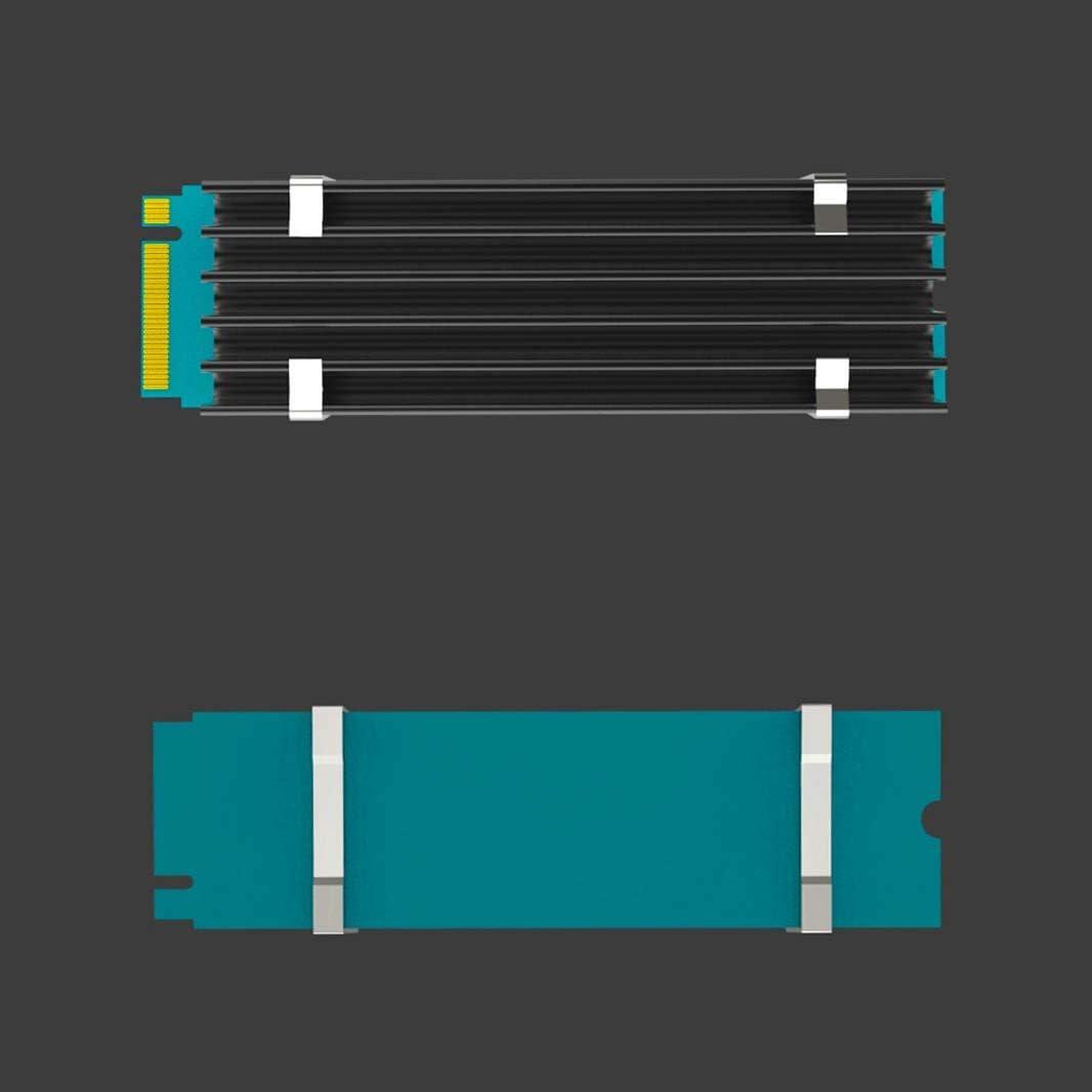 GLOTRENDS M.2 Heatsink for 2280 M.2 SSD 22x70x10mm Size