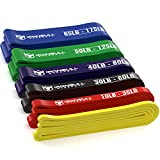Pull Up Assist Band, Premium Stretch Resistance Bands - Mobility Bands - Powerlifting Bands - Extra Durable and Heavy Duty Pull-Up Bands - Works with Any Pullup Station (#0 Yellow - 2 to 15 lb)