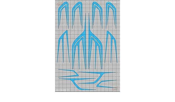 TRC8156 Scallops Design Paint Mask RC Body Vinyl Paint Mask Stencils Airbrush R//C