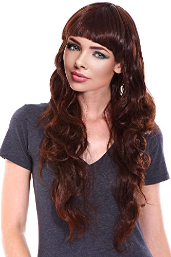 Women's Long Curly Wigs Full Hair Dark Brown Wigs for Holloween/ Cosplay (Halloween Touch And Feel Items)