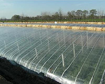 Agfabric 2.4 Mil Greenhouse Clear Plastic Film Polyethylene Covering 6.5ftx20ft