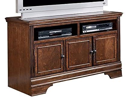 Ashley Furniture Signature Design   Hamlyn TV Stand   Modern Styling   Dark  Brown