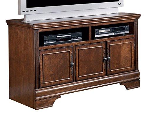 Ashley Furniture Signature Design - Hamlyn TV Stand - Modern Styling - Dark Brown Modern Traditional Tv Stand