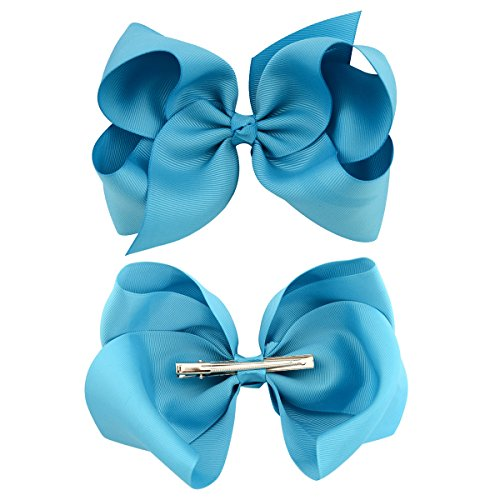30Pack 6In Grosgrain Ribbon Hair Bows Baby Girl/'s Clips LARGE Big For Girls Teen