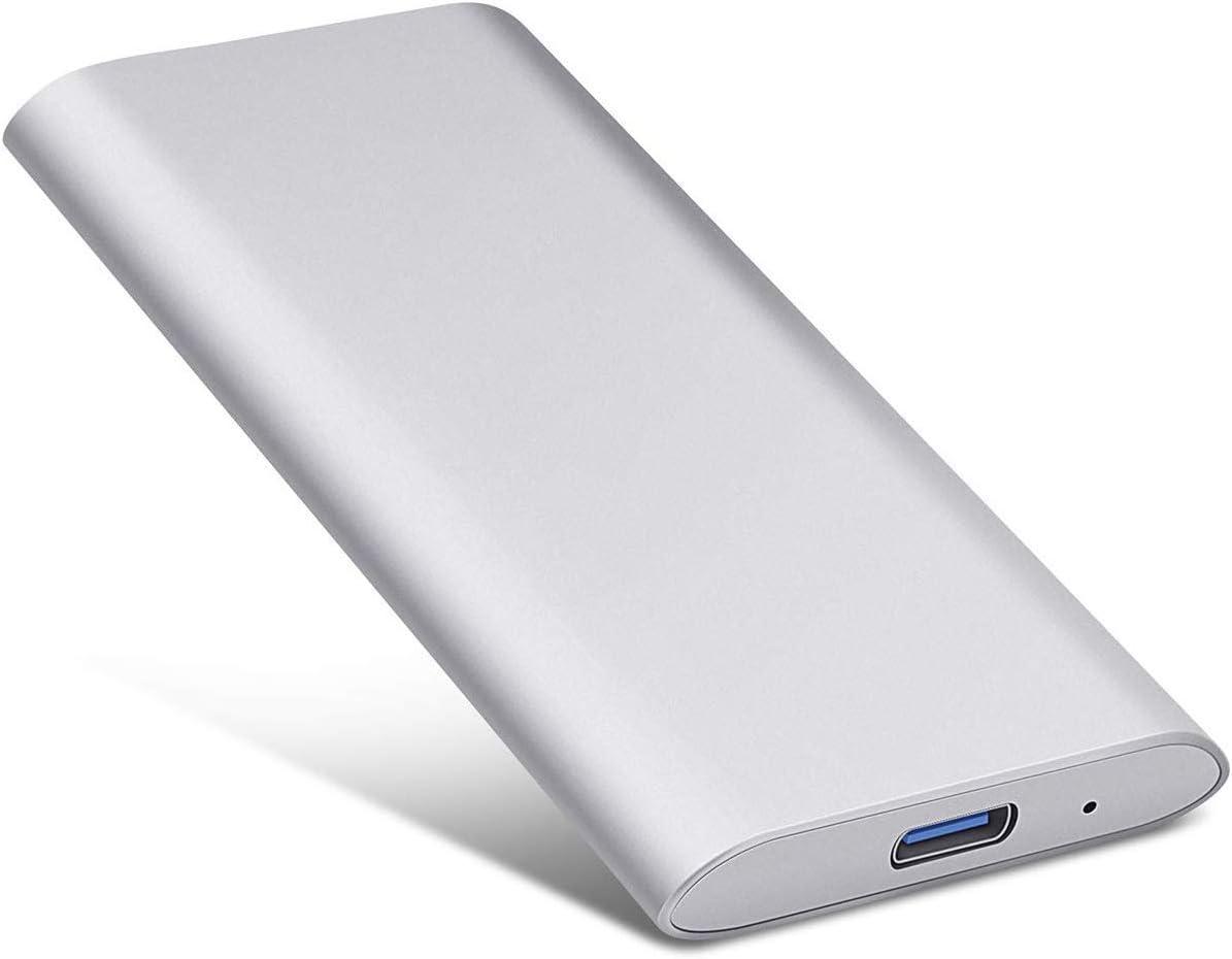 Ultra Slim Hard Drive External Storage Compatible for Mac Laptop Silver,2TB Portable 1TB 2TB External Hard Drive PC