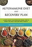 Autoimmune Diet and Recovery Plan, Michaels Jennifer, 1630226823