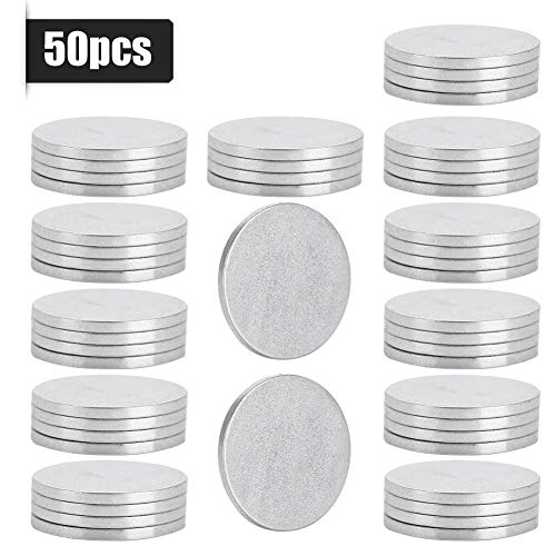Super Strong Magnets Small Round Disc Neodymium Magnets Powerful Rare Earth Magnets for Magnets, Hooks,Disc,Permanent,Building,Scientific, Craft, 121mm(50pcs)