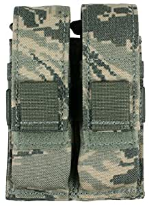 Specter Gear MOLLE/PALS Compatible Modular Double Universal Pistol Magazine Pouch, USAF ABU Camo