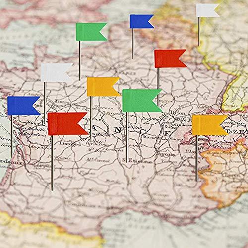 BIGBOBA 160PCS Flagge Pushpins Map Markiernadeln F/ähnchen Karte Nagel Rei/ßn/ägel F/ähnchen Pinnwandnadeln