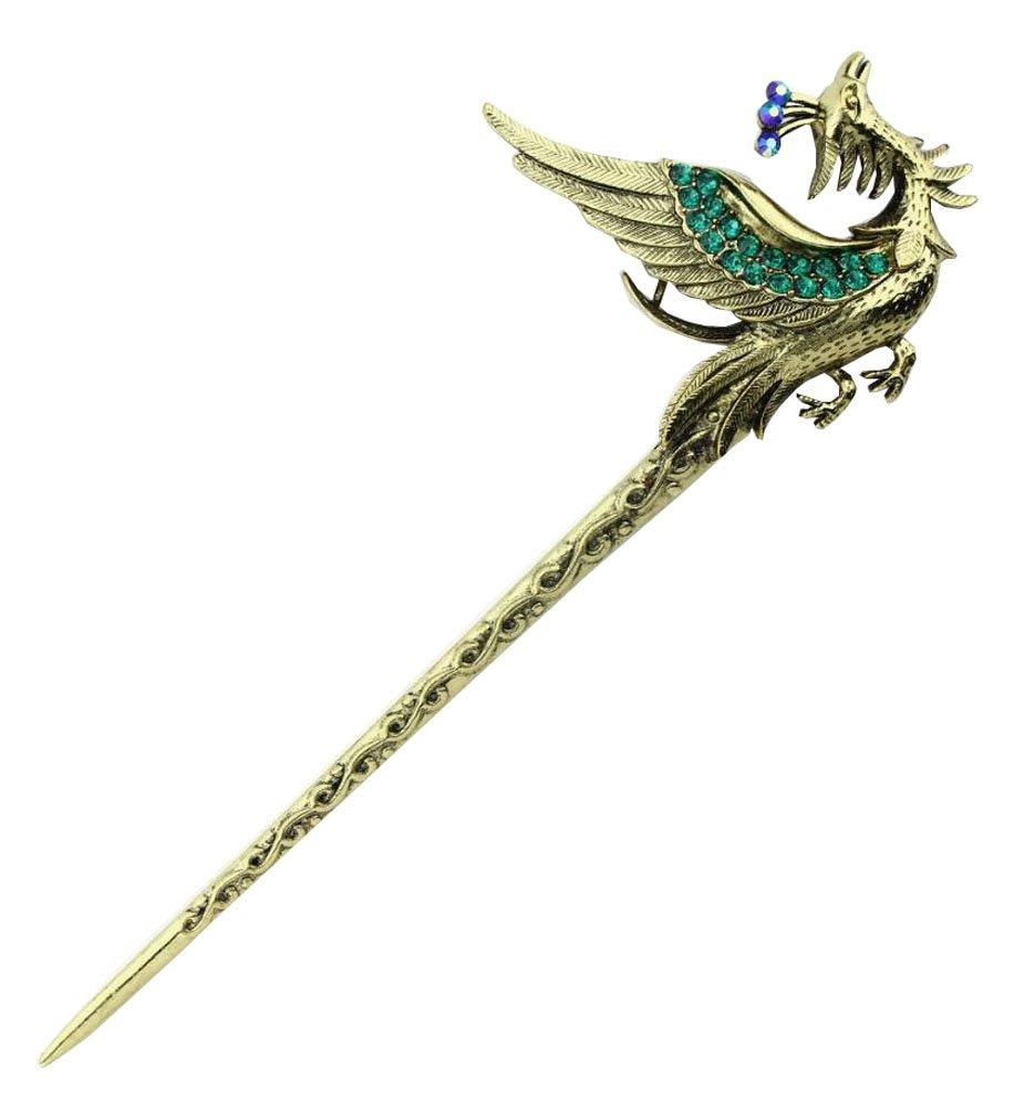 5Pieces Metal Hair Sticks,Phoenix Hair Sticks,Phoenixes Hair Pins,Bird Hair Stick,Metal Hair Pins,Metal Hair Picks Metal Hair Clips