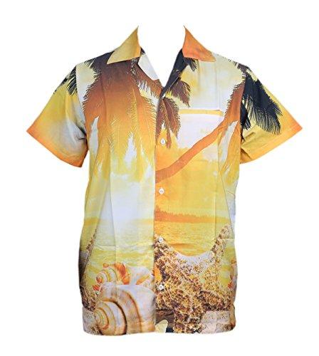 Camisa Hombre Hawaiana Y Set Verano Playa Estampado Digital Sun La Vacaciones Para Fiestas qrrxnw