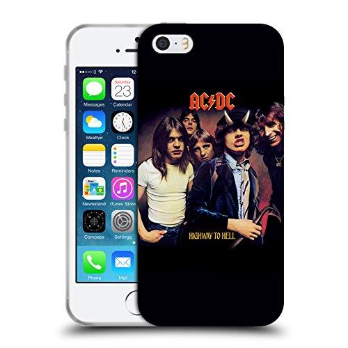 Officiel AC/DC ACDC Route Au Diable Couverture D'album Étui Coque en Gel molle pour Apple iPhone 5 / 5s / SE
