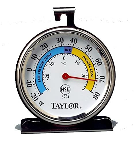 Taylor Precision Products Classic Series Large Dial Thermometer (Freezer/Refrigerator) - Set of 2 Taylor Thermometers