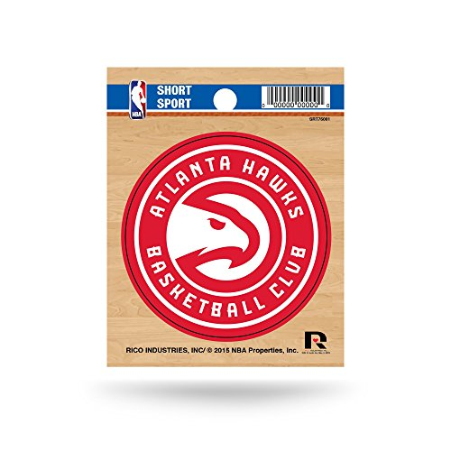 Rico Industries NBA Atlanta Hawks Die Cut Team Logo Short Sport Sticker